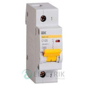 Автоматический выключатель ВА47-100 1P 100 А х-ка C, IEK MVA40-1-100-C