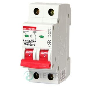 Автоматический выключатель e.mcb.stand.45.2.C50, 2P 50 А характеристика C, E.NEXT