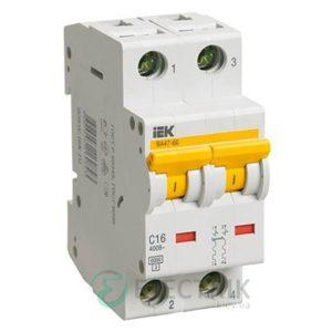 Автоматический выключатель ВА47-60 2P 6 А х-ка D, IEK MVA41-2-006-D