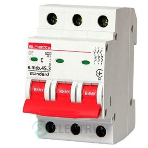 Автоматический выключатель e.mcb.stand.45.3.C63, 3P 63 А характеристика C, E.NEXT