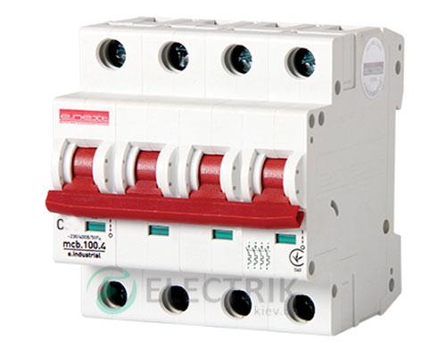 Автоматический выключатель e.industrial.mcb.100.4.C6, 4P 6 А характеристика C