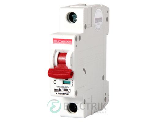 Автоматический выключатель e.industrial.mcb.100.1.C40, 1P 40 А характеристика C