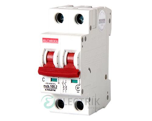 Автоматический выключатель e.industrial.mcb.100.2.C10, 2P 10 А характеристика C
