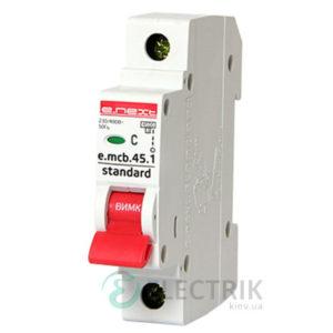 Автоматический выключатель e.mcb.stand.45.1.C6, 1P 6 А характеристика C, E.NEXT