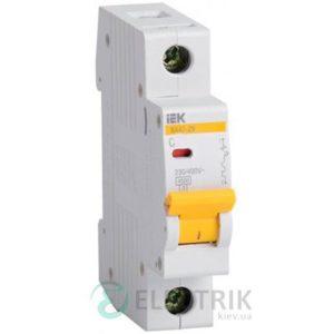 Автоматический выключатель ВА47-29 1P 50 А х-ка C, IEK MVA20-1-050-C