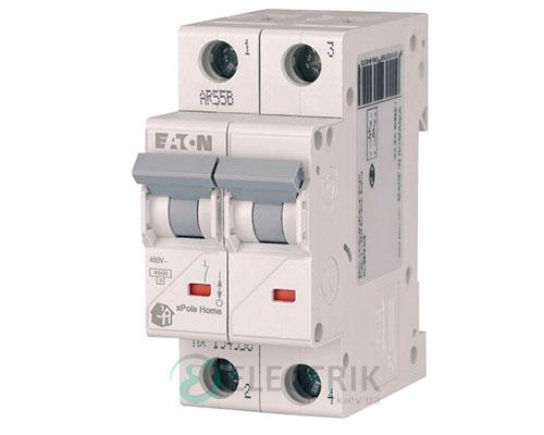 Автоматический выключатель 10А 2-полюса 4.5кА HL-C10/2 Eaton xPole Home 194769