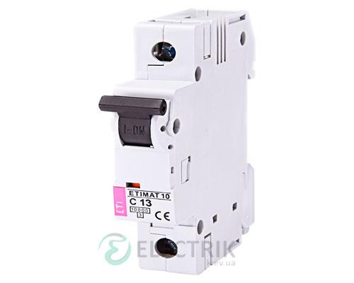 Автоматический-выключатель-ETIMAT-10-(10кА)-1P-13-А-хар-ка-C,-ETI-(Словения) 2131715