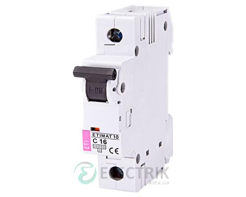 Автоматический-выключатель-ETIMAT-10-(10кА)-1P-16-А-хар-ка-C,-ETI-(Словения) 2131716