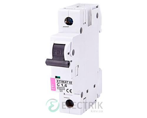 Автоматический-выключатель-ETIMAT-10-(10кА)-1P-1,6-А-хар-ка-C,-ETI-(Словения) 2131707