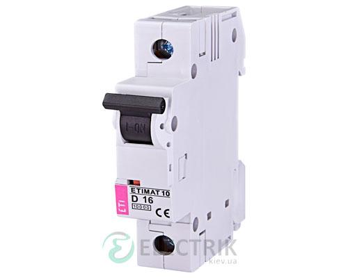 Автоматический-выключатель-ETIMAT-10-(10кА)-1P-16-А-хар-ка-D,-ETI-(Словения) 2151716