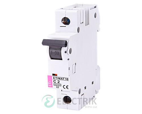 Автоматический-выключатель-ETIMAT-10-(10кА)-1P-2-А-хар-ка-C,-ETI-(Словения) 2131708