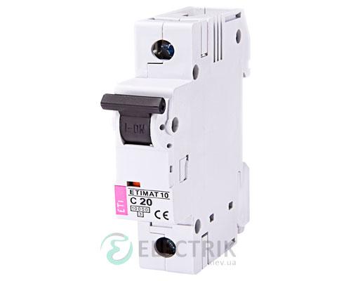 Автоматический-выключатель-ETIMAT-10-(10кА)-1P-20-А-хар-ка-C,-ETI-(Словения) 2131717