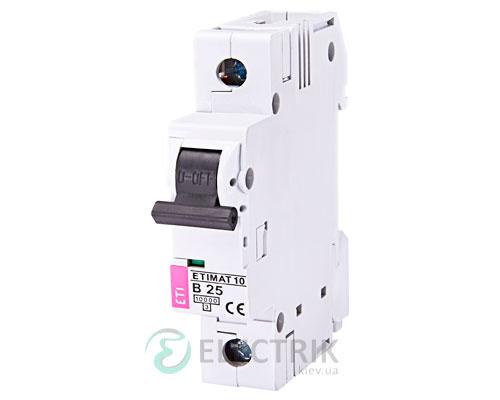 Автоматический-выключатель-ETIMAT-10-(10кА)-1P-25-А-хар-ка-B,-ETI-(Словения) 2121718