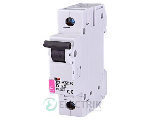Автоматический-выключатель-ETIMAT-10-(10кА)-1P-25-А-хар-ка-D,-ETI-(Словения) 2151718