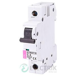 Автоматический-выключатель-ETIMAT-10-(10кА)-1P-4-А-хар-ка-C,-ETI-(Словения) 2131710