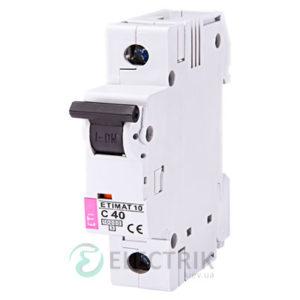 Автоматический-выключатель-ETIMAT-10-(10кА)-1P-40-А-хар-ка-C,-ETI-(Словения) 2131720