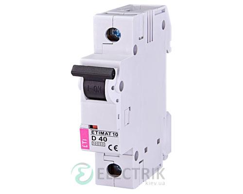Автоматический-выключатель-ETIMAT-10-(10кА)-1P-40-А-хар-ка-D,-ETI-(Словения) 2151720