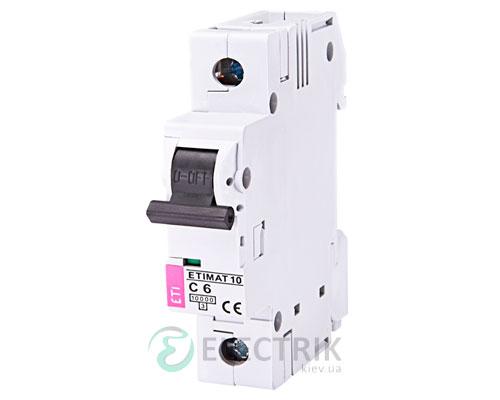 Автоматический-выключатель-ETIMAT-10-(10кА)-1P-6-А-хар-ка-C,-ETI-(Словения) 2131712