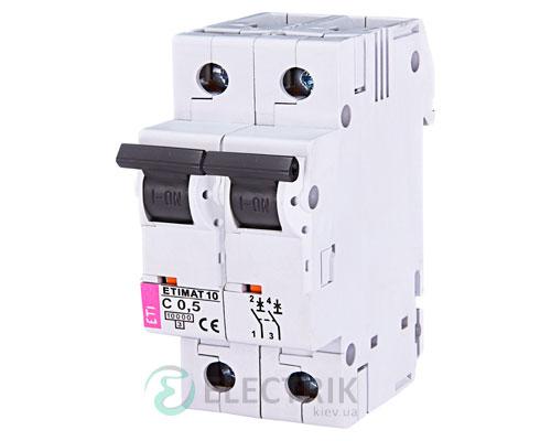 Автоматический-выключатель-ETIMAT-10-(10кА)-2P-0,5-А-хар-ка-C,-ETI-(Словения) 2133701