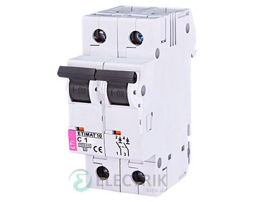 Автоматический-выключатель-ETIMAT-10-(10кА)-2P-1-А-хар-ка-C,-ETI-(Словения) 2133704