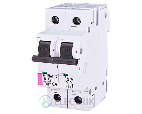 Автоматический-выключатель-ETIMAT-10-(10кА)-2P-13-А-хар-ка-B,-ETI-(Словения) 2123715