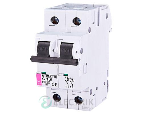 Автоматический-выключатель-ETIMAT-10-(10кА)-2P-1,6-А-хар-ка-C,-ETI-(Словения) 2133707