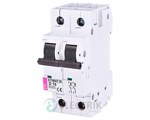 Автоматический-выключатель-ETIMAT-10-(10кА)-2P-16-А-хар-ка-D,-ETI-(Словения) 2153716