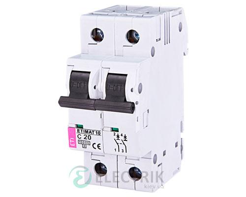 Автоматический-выключатель-ETIMAT-10-(10кА)-2P-20-А-хар-ка-C,-ETI-(Словения) 2133717