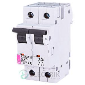 Автоматический-выключатель-ETIMAT-10-(10кА)-2P-25-А-хар-ка-C,-ETI-(Словения) 2133718