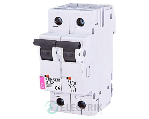 Автоматический-выключатель-ETIMAT-10-(10кА)-2P-32-А-хар-ка-D,-ETI-(Словения) 2153719