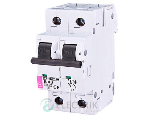 Автоматический-выключатель-ETIMAT-10-(10кА)-2P-40-А-хар-ка-B,-ETI-(Словения) 2123720