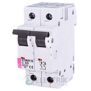 Автоматический-выключатель-ETIMAT-10-(10кА)-2P-40-А-хар-ка-C,-ETI-(Словения) 2133720