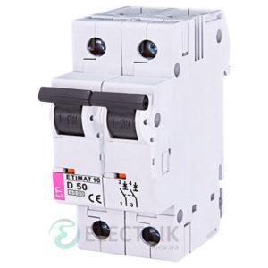 Автоматический-выключатель-ETIMAT-10-(10кА)-2P-50-А-хар-ка-D,-ETI-(Словения) 2153721