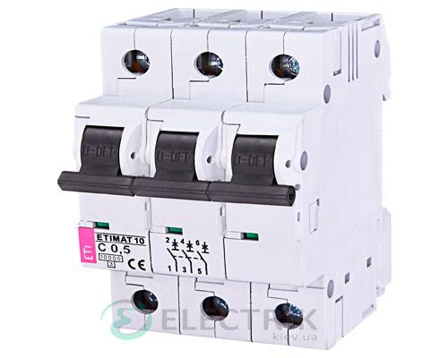 Автоматический-выключатель-ETIMAT-10-(10кА)-3P-0,5-А-хар-ка-C,-ETI-(Словения) 2135701