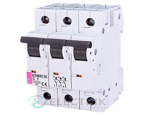 Автоматический-выключатель-ETIMAT-10-(10кА)-3P-1-А-хар-ка-C,-ETI-(Словения) 2135704