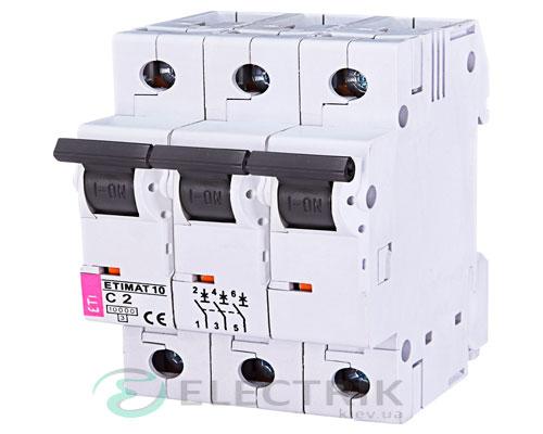 Автоматический-выключатель-ETIMAT-10-(10кА)-3P-2-А-хар-ка-C,-ETI-(Словения) 2135708