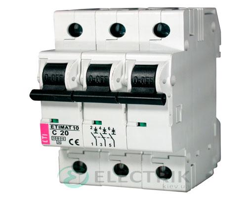 Автоматический-выключатель-ETIMAT-10-(10кА)-3P-20-А-хар-ка-C,-ETI-(Словения) 2135717