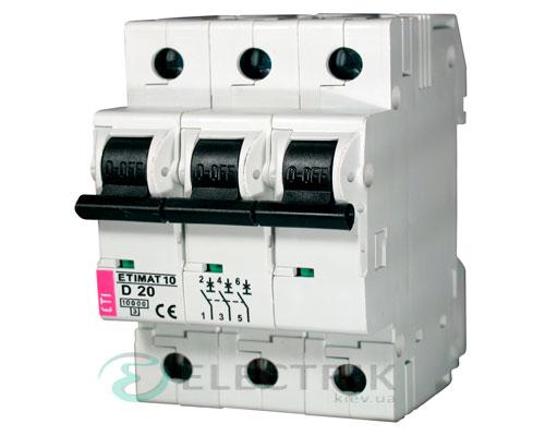 Автоматический-выключатель-ETIMAT-10-(10кА)-3P-20-А-хар-ка-D,-ETI-(Словения) 2155717
