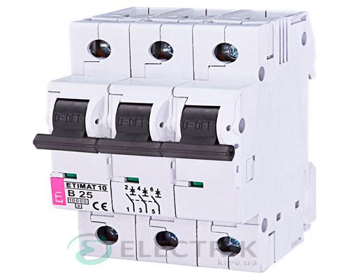 Автоматический-выключатель-ETIMAT-10-(10кА)-3P-25-А-хар-ка-B,-ETI-(Словения) 2125718