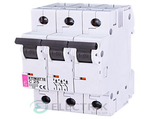 Автоматический-выключатель-ETIMAT-10-(10кА)-3P-25-А-хар-ка-C,-ETI-(Словения) 2135718