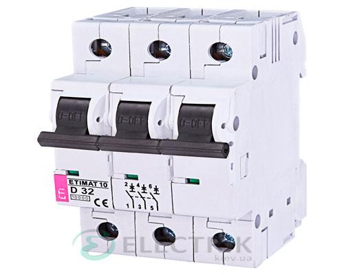 Автоматический-выключатель-ETIMAT-10-(10кА)-3P-32-А-хар-ка-D,-ETI-(Словения) 2155719