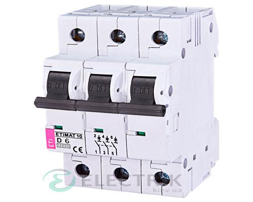 Автоматический-выключатель-ETIMAT-10-(10кА)-3P-6-А-хар-ка-D,-ETI-(Словения) 2155712