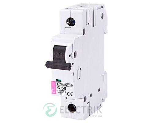 Автоматический-выключатель-ETIMAT-10-(6кА)-1P-50-А-хар-ка-C,-ETI-(Словения) 2131721