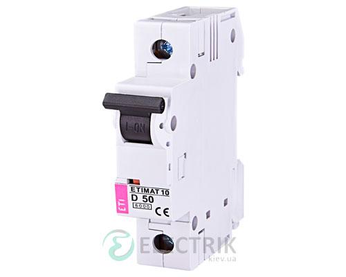 Автоматический-выключатель-ETIMAT-10-(6кА)-1P-50-А-хар-ка-D,-ETI-(Словения) 2151721