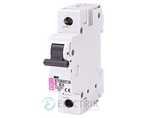 Автоматический-выключатель-ETIMAT-10-(6кА)-1P-63-А-хар-ка-C,-ETI-(Словения) 2131722