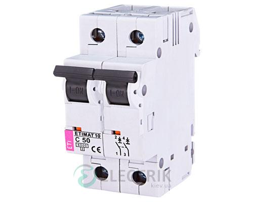 Автоматический-выключатель-ETIMAT-10-(6кА)-2P-50-А-хар-ка-C,-ETI-(Словения) 2133721