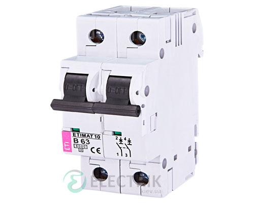 Автоматический-выключатель-ETIMAT-10-(6кА)-2P-63-А-хар-ка-B,-ETI-(Словения) 2123722