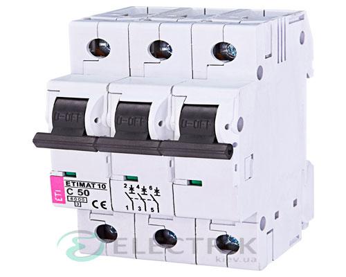 Автоматический-выключатель-ETIMAT-10-(6кА)-3P-50-А-хар-ка-C,-ETI-(Словения) 2135721