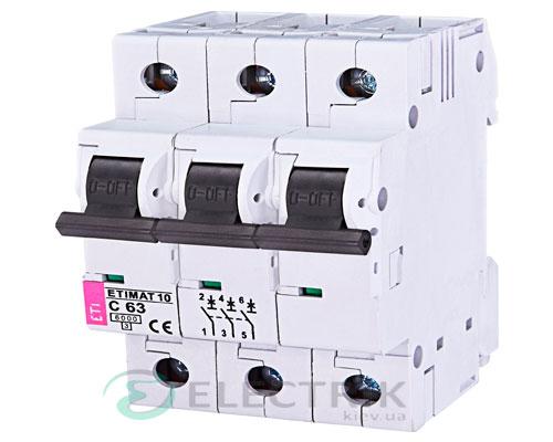 Автоматический-выключатель-ETIMAT-10-(6кА)-3P-63-А-хар-ка-C,-ETI-(Словения) 2135722