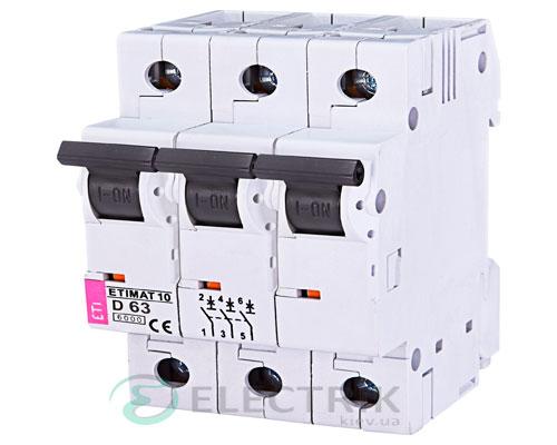 Автоматический-выключатель-ETIMAT-10-(6кА)-3P-63-А-хар-ка-D,-ETI-(Словения) 2155722